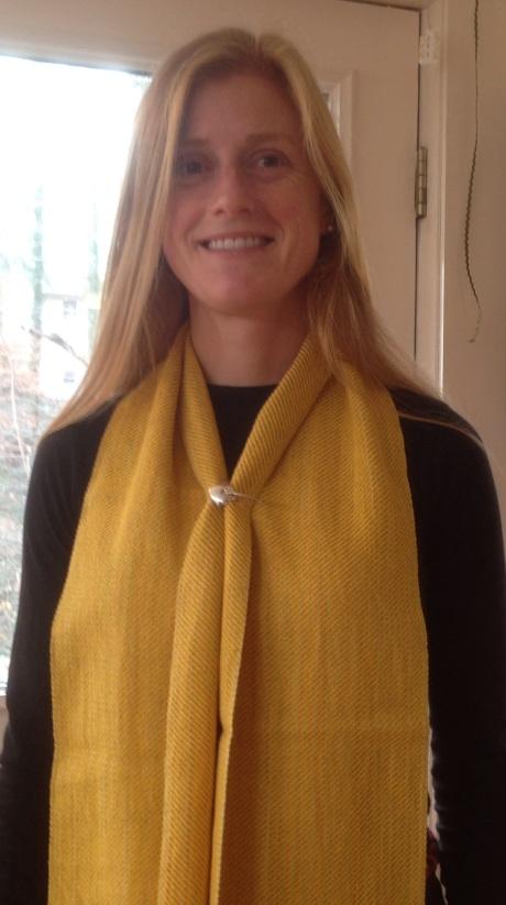 Yellow scarf by Andrea Korotky