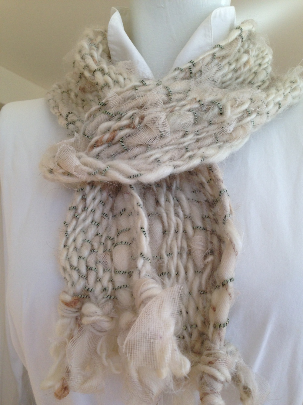 Mohair and Gauze Scarf